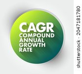 cagr   compound annual growth... | Shutterstock .eps vector #2047181780