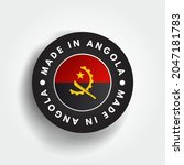 made in angola text emblem... | Shutterstock .eps vector #2047181783