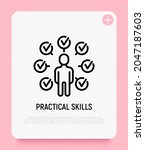 productive man thin line icon ... | Shutterstock .eps vector #2047187603