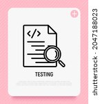 testing software  code with... | Shutterstock .eps vector #2047188023