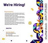 recruitment advertising... | Shutterstock .eps vector #2047195283