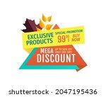 exclusive offer mega discount... | Shutterstock .eps vector #2047195436