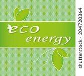 vector illustration eco... | Shutterstock .eps vector #204720364