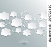 illustration messages in the... | Shutterstock .eps vector #204723610