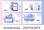 online forum concept. chat...