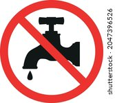 do not drink water sign. red... | Shutterstock .eps vector #2047396526