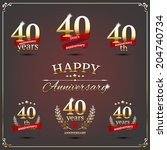40 years anniversary signs... | Shutterstock .eps vector #204740734