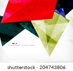 abstract colorful overlapping... | Shutterstock . vector #204743806