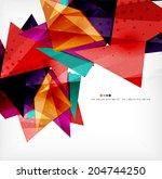 modern 3d glossy overlapping... | Shutterstock . vector #204744250