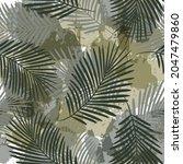 watercolor tropical vector...   Shutterstock .eps vector #2047479860