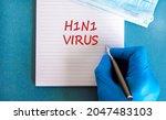 H1n1 Virus Symbol. White Note...