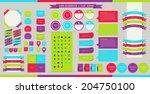 vector web elements  buttons... | Shutterstock .eps vector #204750100