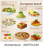 set of food icons. european... | Shutterstock .eps vector #204751144