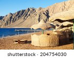 view to beach in egypt   Shutterstock . vector #204754030