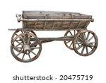 Old Wooden Wagon Isolated On...