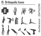 15 orthopedic and spine symbol  ... | Shutterstock .eps vector #204761290