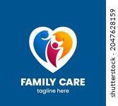 family care logo template.... | Shutterstock .eps vector #2047628159
