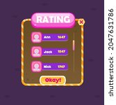 game ui window rating chart...