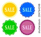 set of colorful button.vector... | Shutterstock .eps vector #204764248