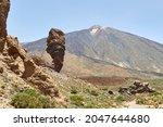 El Roque Garcia In The Teide...