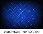 abstract blue line grid pattern ...   Shutterstock .eps vector #2047652420