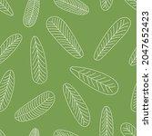seamless leaves pattern hand...   Shutterstock .eps vector #2047652423