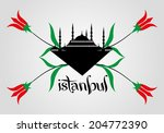 istanbul and tulip vector art | Shutterstock .eps vector #204772390
