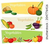 horizontal banners with fresh... | Shutterstock .eps vector #204776416
