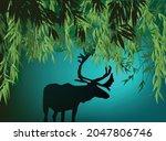 illustration with deer... | Shutterstock .eps vector #2047806746