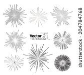 set of points of the star and... | Shutterstock .eps vector #204784768