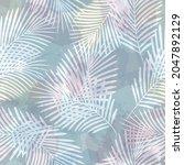 watercolor tropical vector...   Shutterstock .eps vector #2047892129
