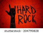 "abstract ""hard rock hand"" sign...   Shutterstock .eps vector #204790828"