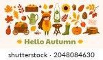 hello autumn horizontal banner. ...   Shutterstock .eps vector #2048084630