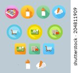 set of colored icon for website ...