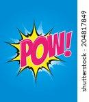 pop art cartoon explosion | Shutterstock .eps vector #204817849