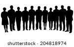 silhouettes of business people  ... | Shutterstock .eps vector #204818974