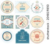 set of vintage knitting labels  ... | Shutterstock .eps vector #204819850