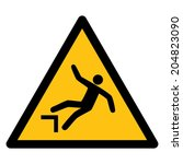 warning sign risk of falling | Shutterstock .eps vector #204823090