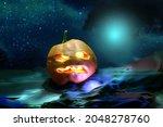 Halloween Background. Jack O...