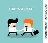 business people shaking hands....   Shutterstock .eps vector #204827920