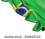 brazil flag folded with white | Shutterstock . vector #204829123