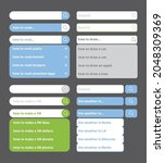 search bars. web panels with...