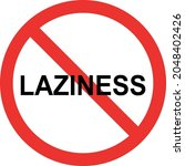 laziness sign. red circle... | Shutterstock .eps vector #2048402426