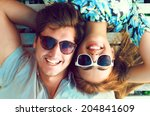 outdoor fashion portrait of... | Shutterstock . vector #204841609