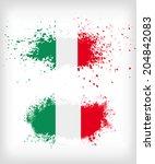 grunge italian ink splattered... | Shutterstock .eps vector #204842083