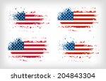 grunge american ink splattered... | Shutterstock .eps vector #204843304