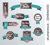 set of retro labels and banners.... | Shutterstock .eps vector #204846430