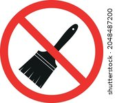 do not paint or painting... | Shutterstock .eps vector #2048487200