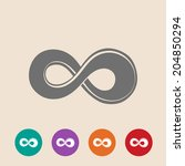 the symbol of infinity. vector... | Shutterstock .eps vector #204850294