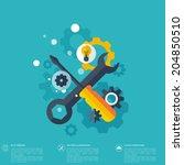 flat repair icon. mechanic... | Shutterstock .eps vector #204850510